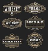 Vintage frame design for labels banner logo emblem menu