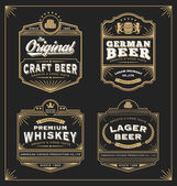 Vintage frame design for labels banner sticker and other design Suitable for whiskey beer and premium product All type use free font