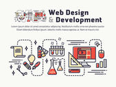 Web design and Development Icons and symbols