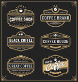 Set of vintage frame design for labels banner sticker and other design Suitable for coffee beverage whiskey beer and premium product All type use free font
