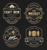 Vintage frame design for labels banner sticker and other design Suitable for whiskey beer wine beverage and premium product All type use free font
