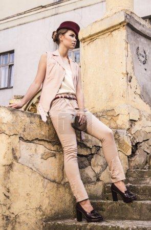 French female beige vinous nude