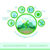Bicycle infographics vector elements
