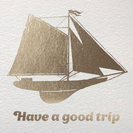 Have a good trip gold foil card.