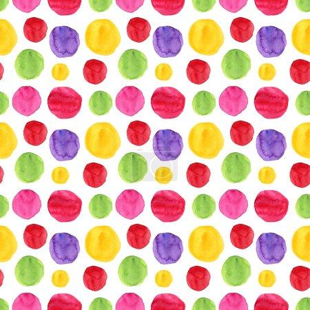 Watercolor hand drawn spots seamless pattern