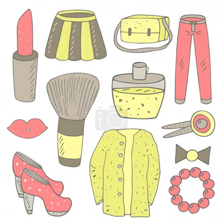 Cute fashion objects collection