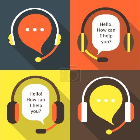 Flat style call center earphones