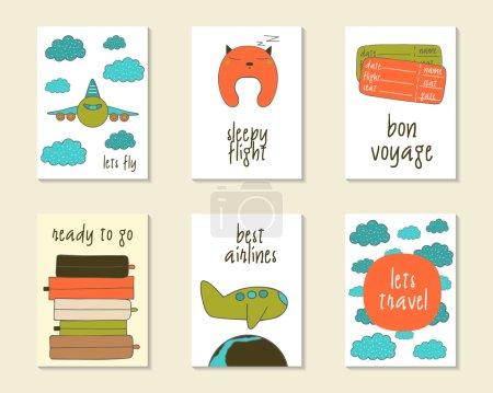 Cute doodle cards