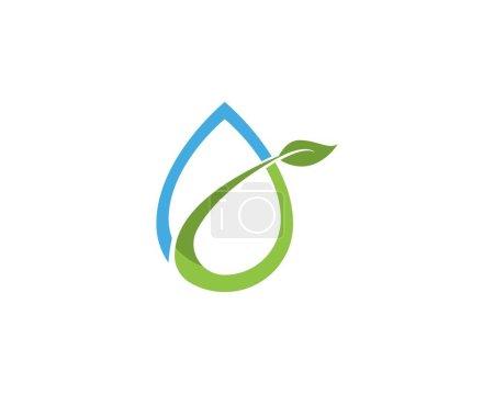 Illustration for Water drop Logo Template vector illustration design - Royalty Free Image