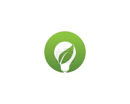 Illustration for Lamp green leaf nature logo vector - Royalty Free Image