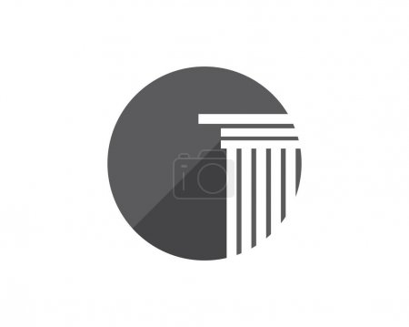 Illustration for Column Logo Template vector design - Royalty Free Image