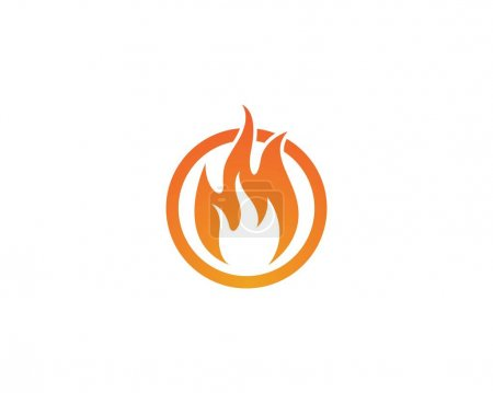 Illustration pour Icône vectorielle de modèle de logo de flamme de feu Concept de logo d'huile, de gaz et d'énergie - image libre de droit