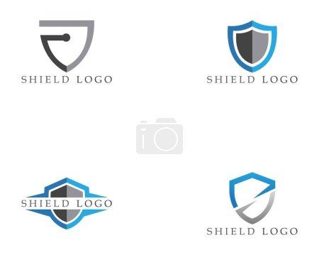 Illustration for Shield symbol logo template vector - Royalty Free Image