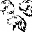 Stylized black and white vector illustration...