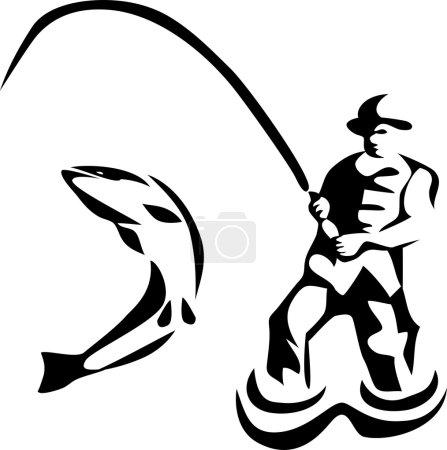fly fishing illustration