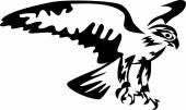 falconry - vector illustration