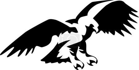 attacking eagle - vector illustration