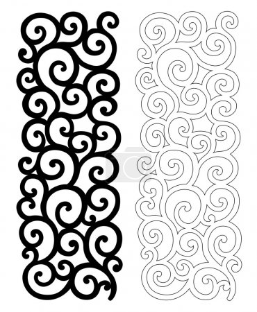 Illustration for Ornate vector pattern for cutting on white background - Royalty Free Image