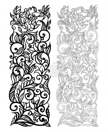 Ornate vector floral pattern