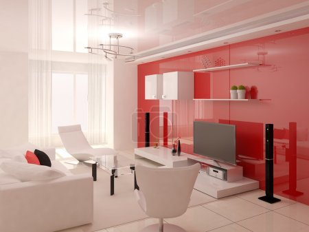 The innovative design of the living room.
