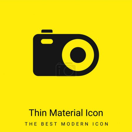 Analogical Photo Camera minimal bright yellow material icon