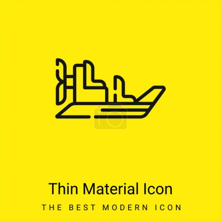 Illustration for Boat minimal bright yellow material icon - Royalty Free Image
