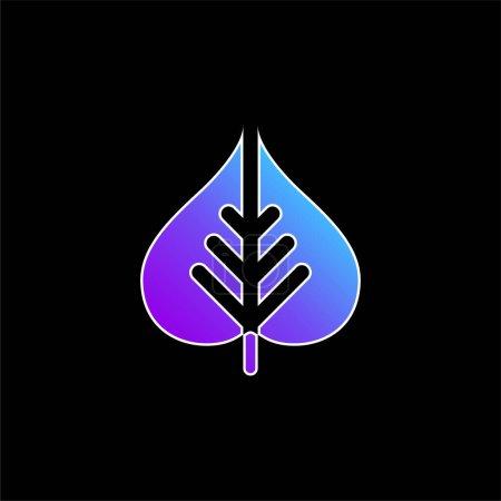 Bodhi Leaf blue gradient vector icon