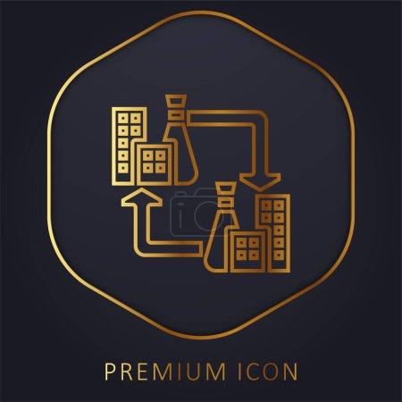 Photo pour B2b ligne d'or logo premium ou icône - image libre de droit