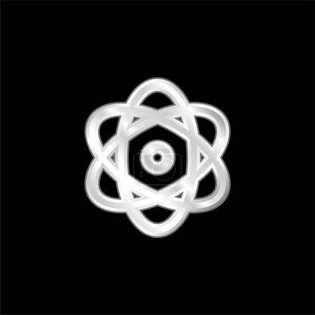 Photo pour Atom icône métallique argentée - image libre de droit