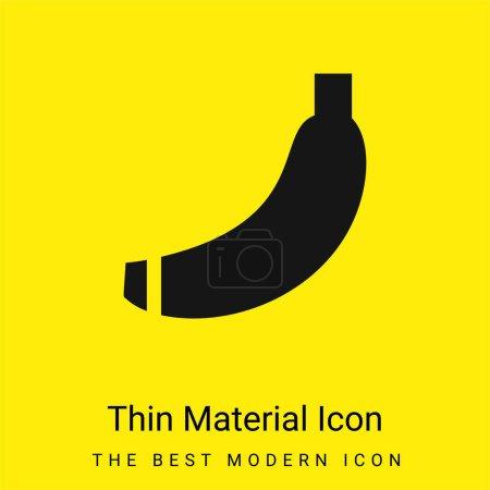 Illustration pour Banane minimale icône matériau jaune vif - image libre de droit