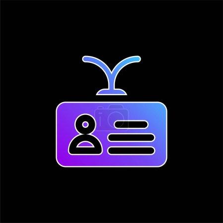 Illustration pour Icône vectorielle de dégradé bleu compte - image libre de droit