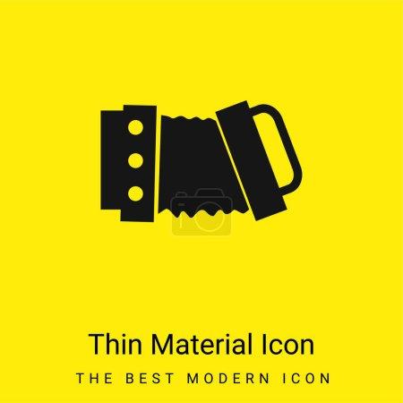 Acordeón mínimo icono de material amarillo brillante