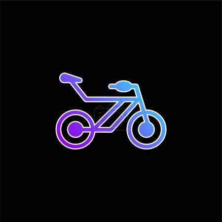 Bicycle blue gradient vector icon