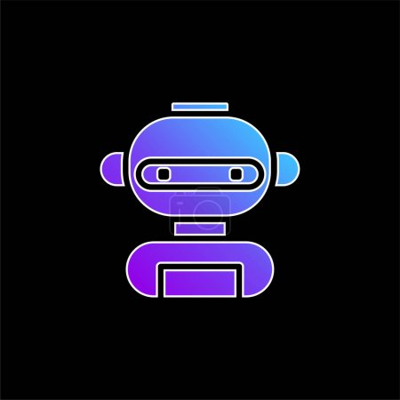 Illustration for AI blue gradient vector icon - Royalty Free Image
