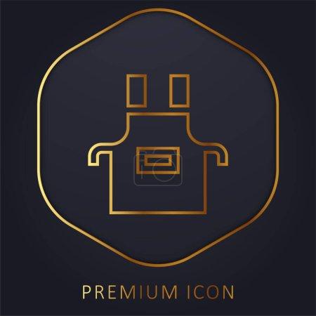 Illustration pour Tablier ligne d'or logo premium ou icône - image libre de droit