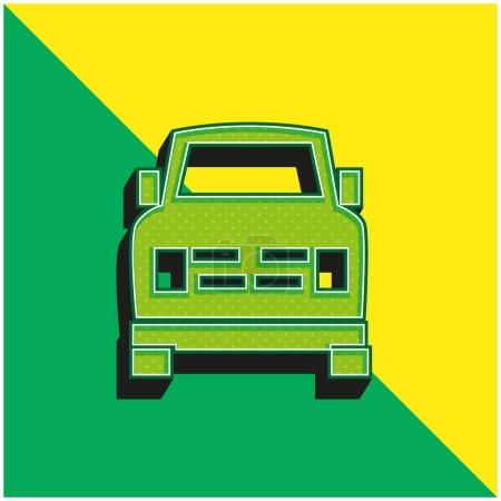 Illustration pour Logo vectoriel 3D moderne tout terrain vert et jaune - image libre de droit