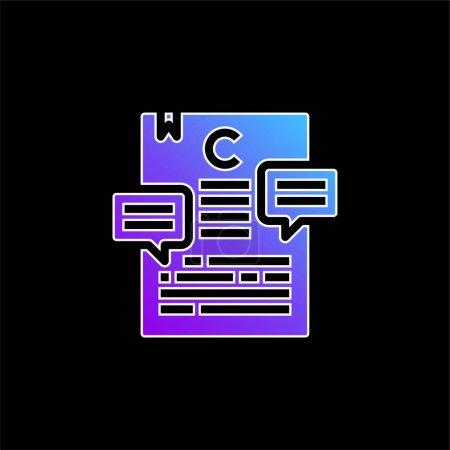 Illustration pour Article icône vectorielle dégradé bleu - image libre de droit