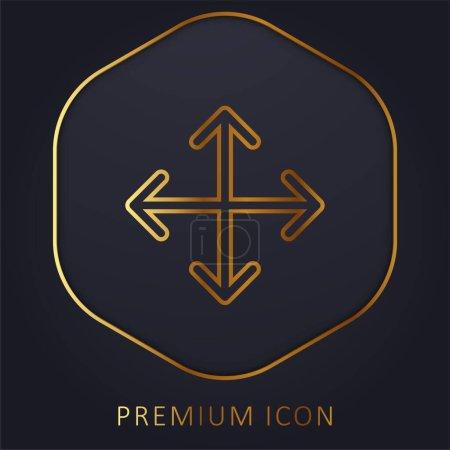 Illustration pour Flèches ligne d'or logo premium ou icône - image libre de droit