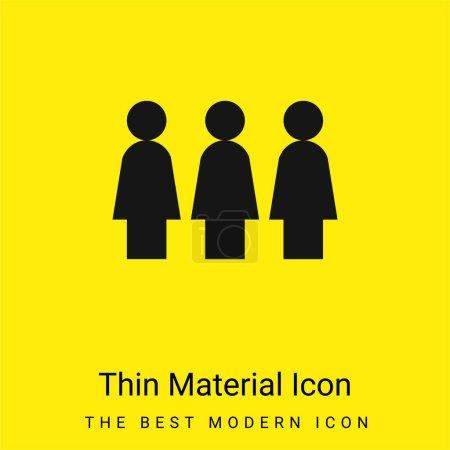 Illustration pour Activisme minime icône matérielle jaune vif - image libre de droit