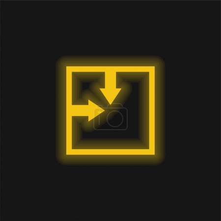 Illustration pour Position absolue Icône néon jaune brillant - image libre de droit