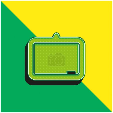 Illustration for Blackboard Green and yellow modern 3d vector icon logo - Royalty Free Image