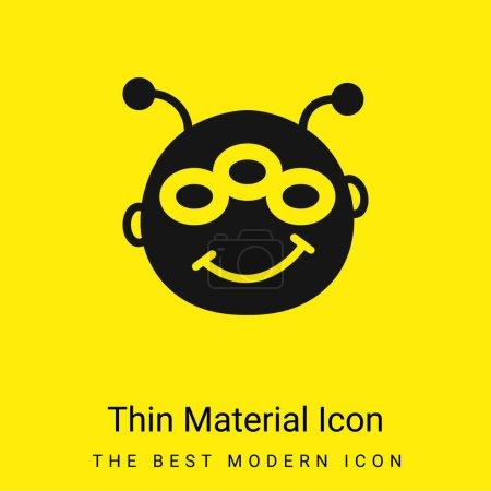 Illustration pour Alien minimal jaune vif icône matérielle - image libre de droit