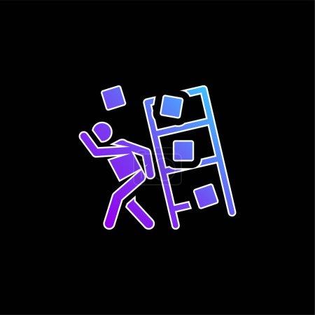 Illustration pour Icône vectorielle de dégradé bleu accident - image libre de droit