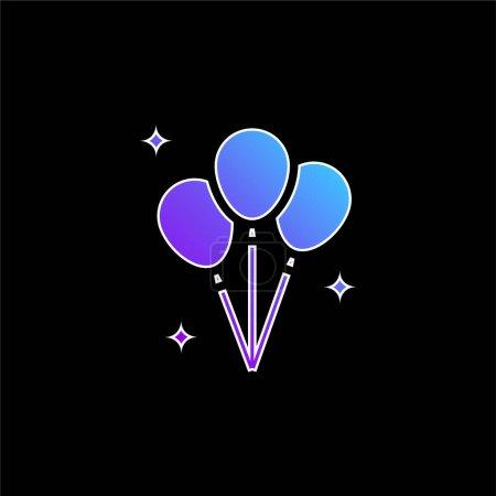 Illustration pour Icône vectorielle gradient bleu ballons - image libre de droit