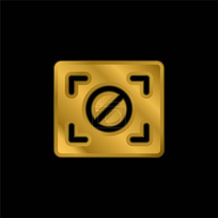 Illustration pour Bloc Focus plaqué or icône métallique ou logo vecteur - image libre de droit