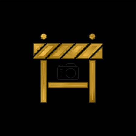 Barriere vergoldet metallisches Symbol oder Logo-Vektor