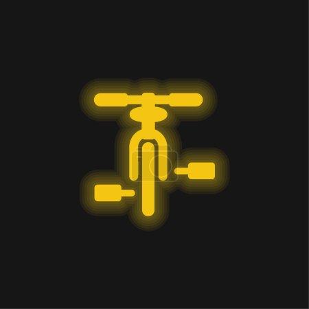 Fahrrad gelb leuchtende Neon-Symbol