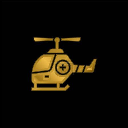 Foto de Ambulancia de aire chapado en oro icono metálico o logo vector - Imagen libre de derechos