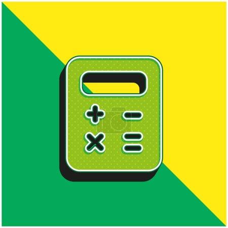 Photo pour Bilan Logo vectoriel 3d moderne vert et jaune - image libre de droit