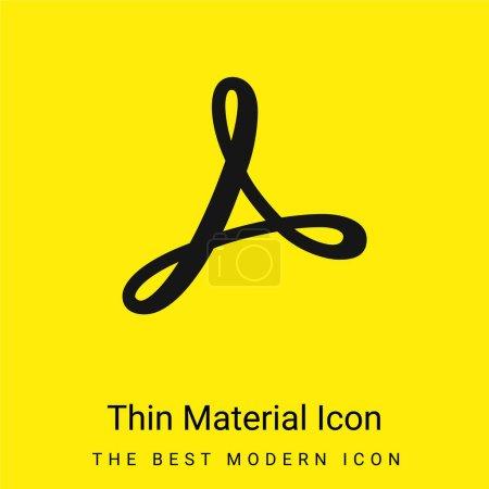 Adobe minimal bright yellow material icon